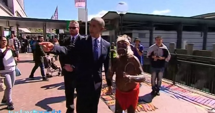 """President Obama"" Welcomed By Australia's Finest"