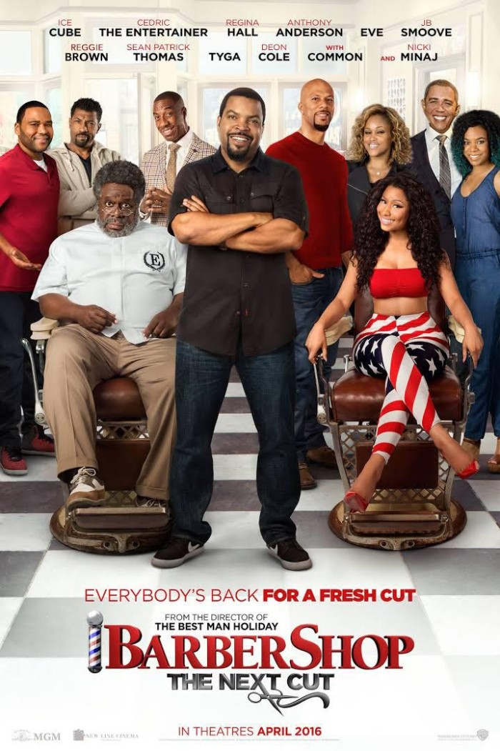 Reggie Brown as President Obama in Barbershop 3